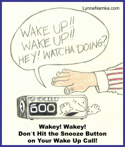 alarm clock wake-up snooze button